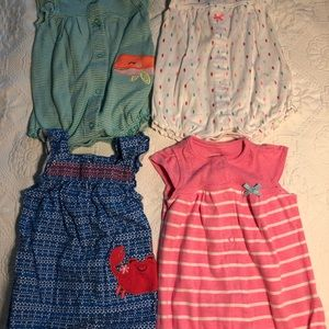 Bundle of 4 rompers